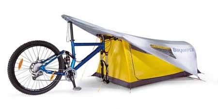 Bike-cum-tent